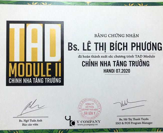 Văn bằng TAD chinh nha - bs LTB Phương